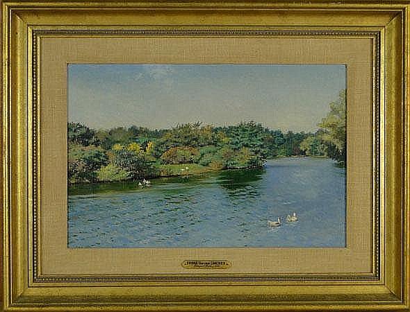 Frank von der Lancken American-Oklahoma (1872-1950) Oil on Canvas