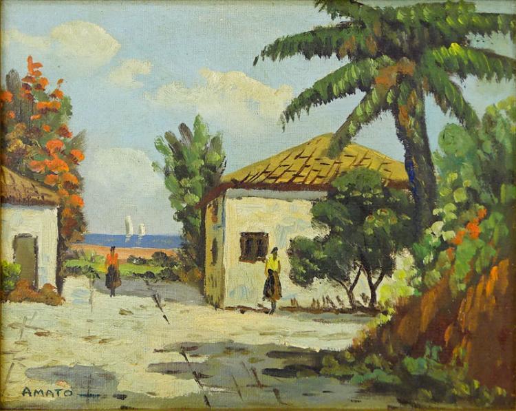 Orazio Amato, Italian (1884-1952) Oil on board