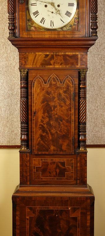 Antique Thomas Brown Of Birmingham Carved Mahogany Burlwood
