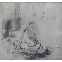 Antique Japanese Watercolor On Paper