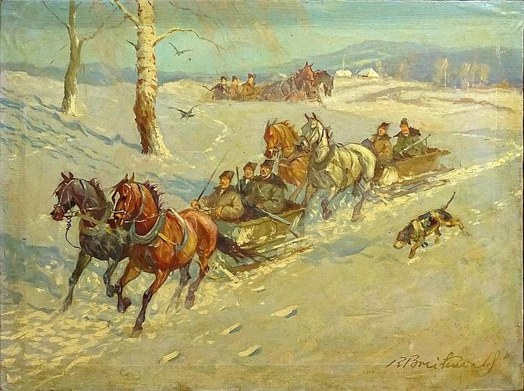 Roman Antoni Breitenwal, Polish (1911-1985) Oil on Canvas,