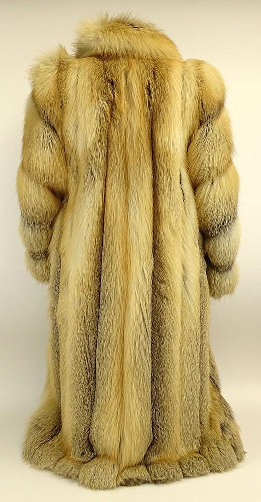 beautiful golden long island full length fox fur coat full. Black Bedroom Furniture Sets. Home Design Ideas