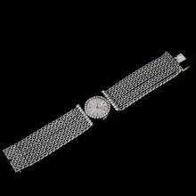 Lady's Vintage Jaeger LeCoultre 18 Karat White Gold and Approx. 2.30 Carat Round Brilliant Cut Diamond Bracelet Watch