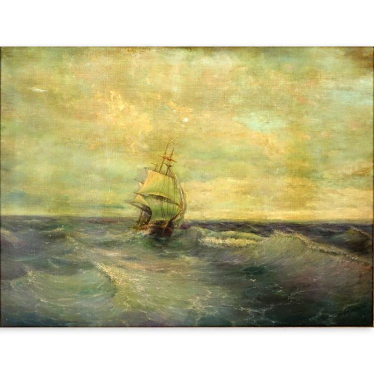 Attributed to: Ivan Konstantinovich Aivazovsky, Russian (1817-1900) Oil on Canvas