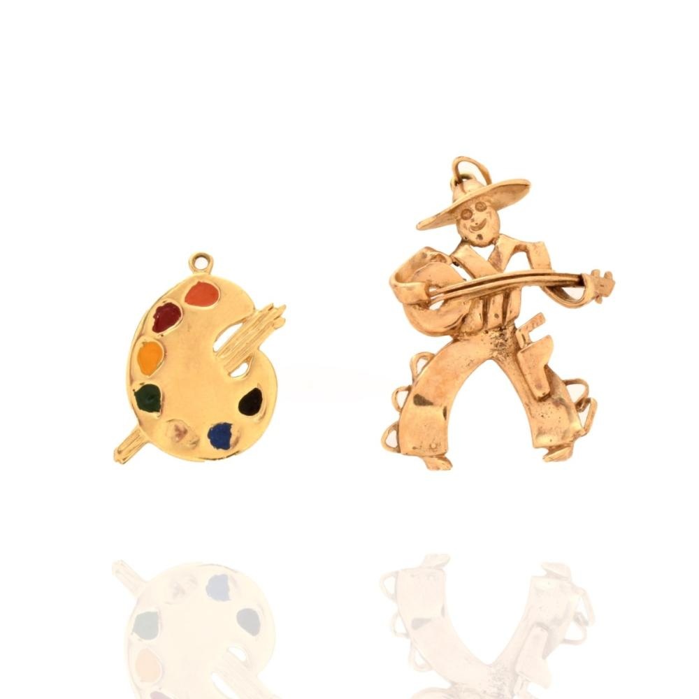 Two 14K Charms