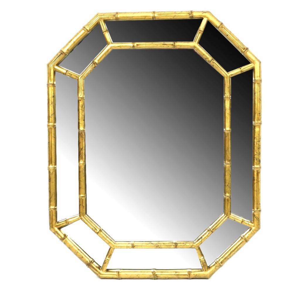 Modern Bamboo Style Mirror