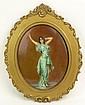 Circa 1901 Continental Painted Porcelain Plaque