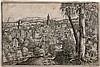 *Hanns Lautensack Bamberg 1524 ( ? ) - tätig bis 1554 in Nürnberg, - gestorben wohl 1565 in Wien Ansicht von Steyr an der Enns, Hanns Lautensack, Click for value