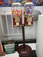 Modern 2 Unit 25 Cent Vending/Gumball Machine on Stand