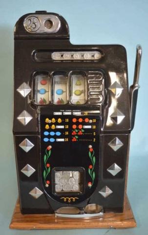 1936 Mills 25 Cent Chrome Bell Slot Machine
