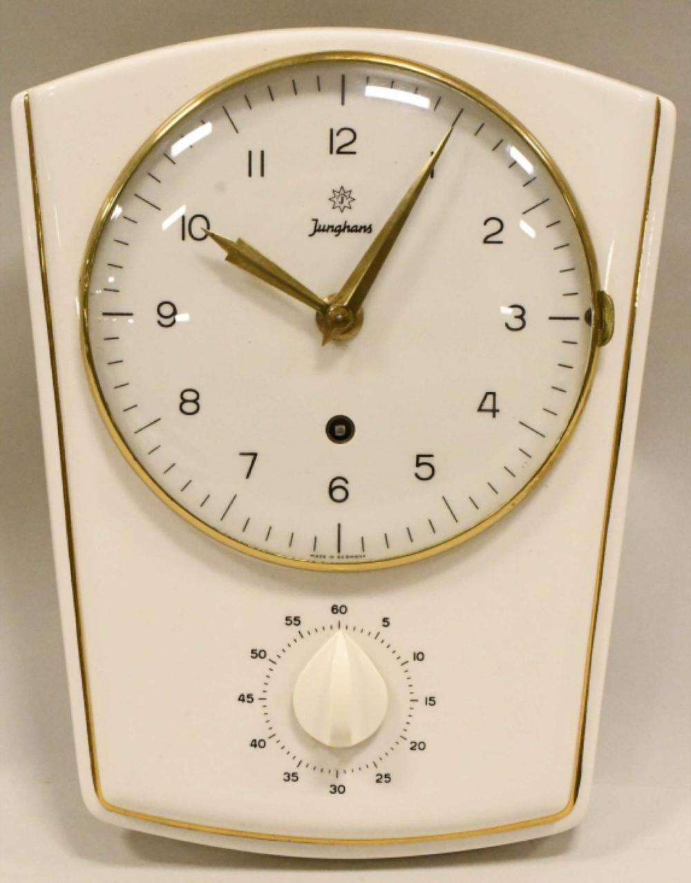 Superb Mid Century Junghans Kitchen Wall Clock W Timer Download Free Architecture Designs Rallybritishbridgeorg