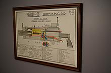 1947 Browning 300 Win Mag Framed Diagram Plate II 47