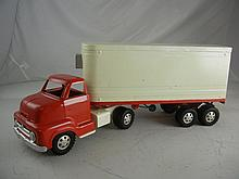 Vintage Dunwell Toys Truck and Trailer 22-1/2