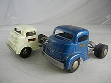 Vintage Lot Of Two Smith Miller Truck Cabs Blue 10