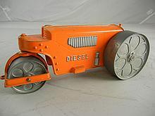 Vintage Hubley Kiddie Toy Diesel Road Roller 9-1/2