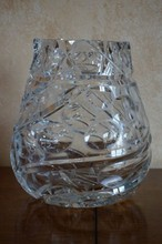 Vintage Petrov Royal Crystal Vase 9