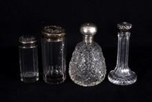 Four Art Nouveau Sterling Top Dresser Jars