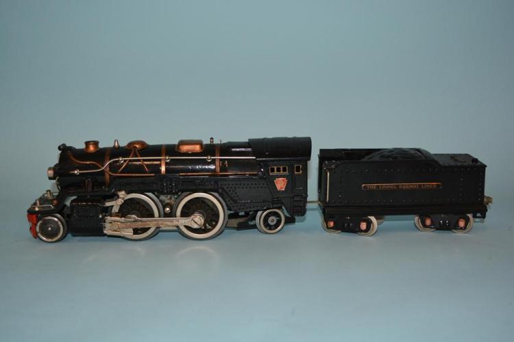 Prewar Lionel Standard Gauge #385E Black PRR Steam