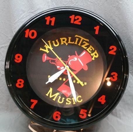 Wurlitzer Music Phonograph Fantasy Neon Clock - NIB