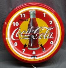 Drink Coca Cola Fantasy Neon Clock- NIB- Licensed