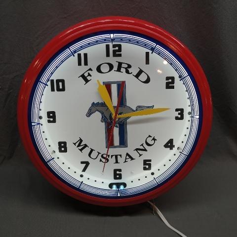 Ford Mustand Fantasy Neon Clock- NIB- Licensed