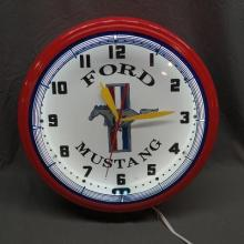 Ford Mustand Fantasy Neon Clock- NIB- Licensed