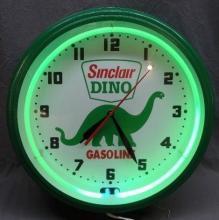 Sinclair Gasoline Dino Fantasy Neon Clock- NIB
