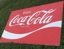 Large Enjoy Coca Cola Metal Sign