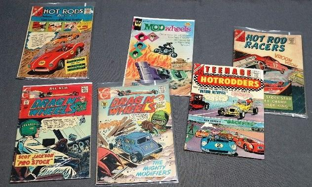 Lot of Various Hot Rod Related Comic Books- Mod Wheels, Teenage Hotrodders and more