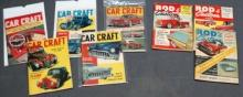 Lot of 8 1950s Car Craft and Rod N Custom Car Magazines