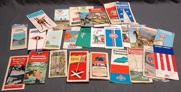 Lot of 1930s-1970s Service Station Maps