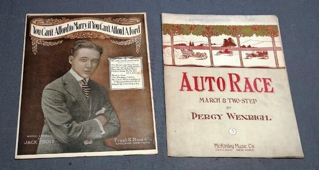 1908 Auto Race Two Step & 1940 You Can't Afford to Marry If You Can't Afford a Ford -Sheet Music