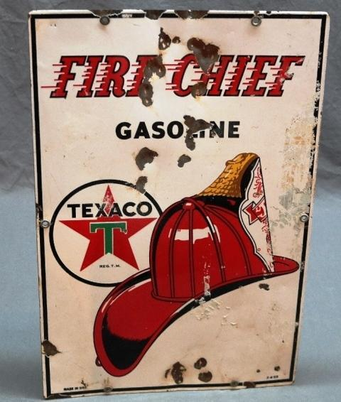 Texaco Fire Chief Porcelain Pump Plate- PPP