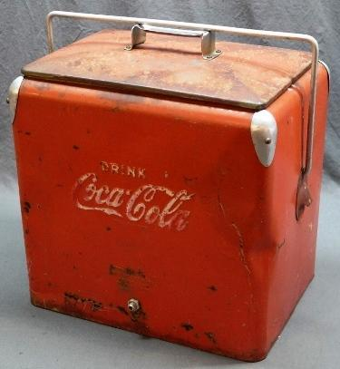 Drink Coca Cola Cooler with Inner Tray- Rough