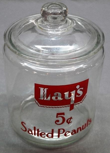 Lay's 5 Cent Salted Peanuts Counter Jar