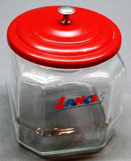 Lance 8 Sided Counter Jar with Metal Lid