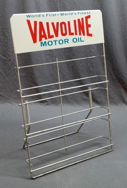 World's First-Finest Valvoline Motor Oil Rack for Service Station Islands
