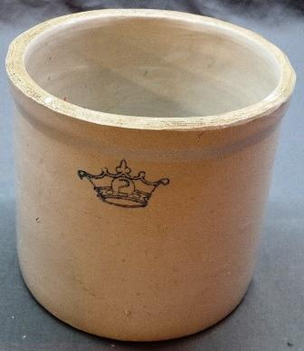 2 Gallon Crock with Crown Stamp