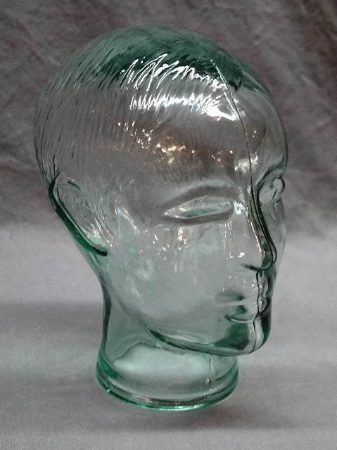 Cast Glass Head with Features
