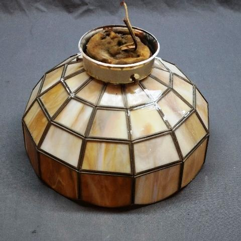 Stained Glass Panel Ceiling Light