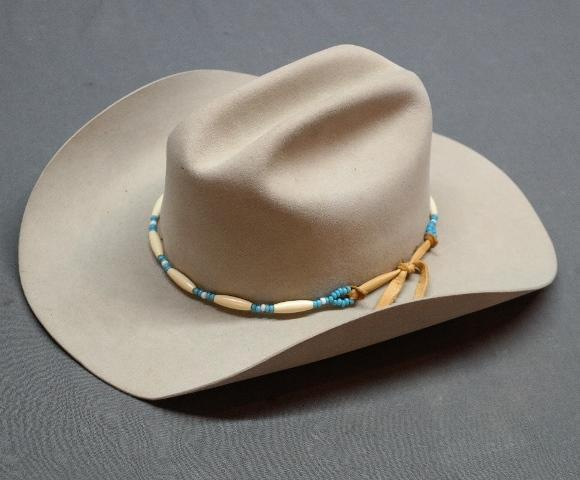 Vintage Stetson Cowboy Hat with Beaded Band in Box