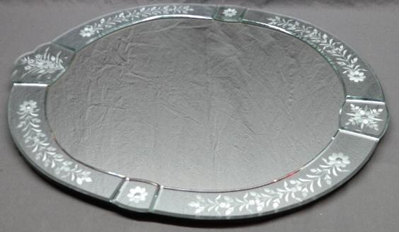 Cut Glass Decorative Parlor Mirror