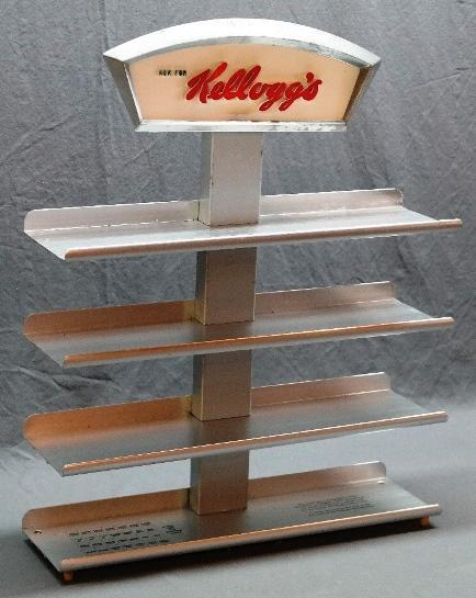 1950s Kellogg's Diner Counter Display Shelf