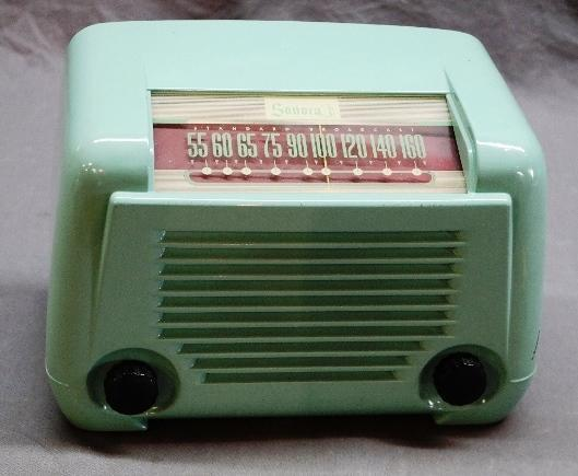 Baby Blue Sonora Table Top Radio