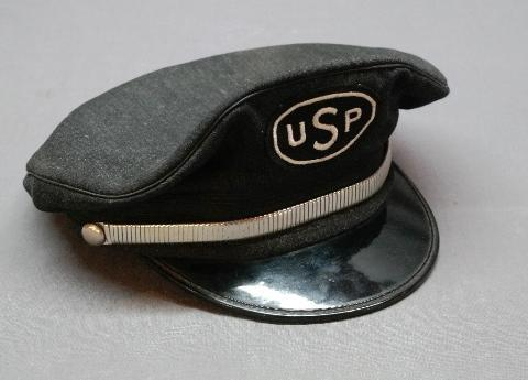Vintage Uniform Cap/Hat with USP Patch- Early Postal Uniform?