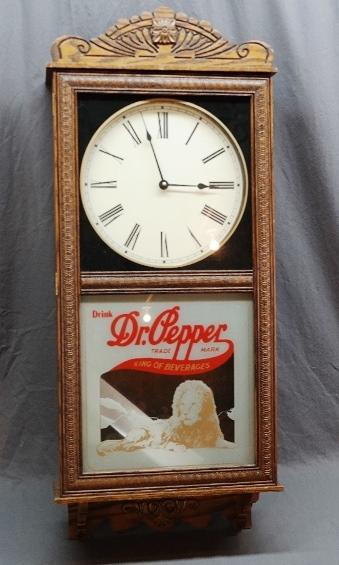 Dr. Pepper Nostalgia Wall Clock with Pendulum