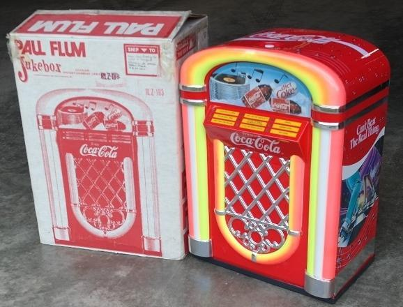 Paul Flum Coca Cola Jukebox Cooler in Original Box