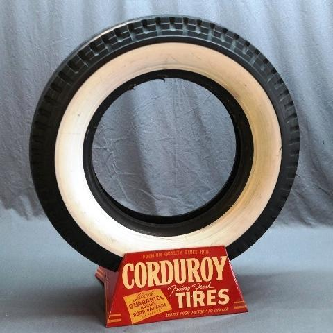 Corduroy Factory Fresh Tires Display Stand with White Wall Tire