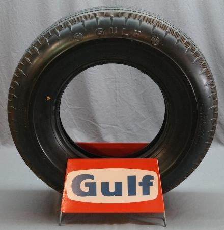 Gulf Tire Display Stand with Gulf Tire