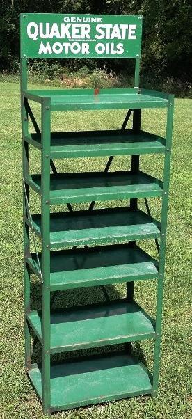Genuine Quaker State Motor Oils 7 Shelf Rack